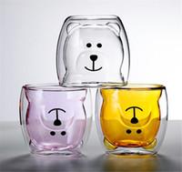 Yeni Yemek Sevimli Kupalar Gözlük Çift Duvar Yalıtımlı Gözlük Espresso Kahve Çay Süt Kupası Doğum Günü Hediyesi