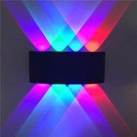 Luz de pared LED Doble cabeza al aire libre Impermeable Moderno Estilo Nórdico Lámpara de Pared de Interior Sala de estar Pórtico Jardín Luz 8W AC85-265V