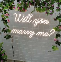 Other Event & Party Supplies Will You Marry Me Neon Sign Flex Led Text Light Custom Home Room Wedding Decoration