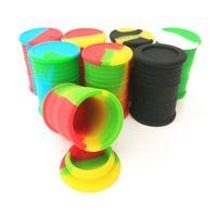 Nonstick 왁스 컨테이너 실리콘 박스 11ml 컨테이너 식품 저장 용기 Dab Tins Vape Box Dabber 오일 홀더