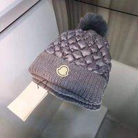 Bola de inverno chapéu de malha para homens mulheres moda hip hop letra crânio beanie bonés casuais quentes de couro de lã grossa