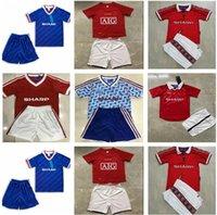 Ronaldo Rooney Saha Retro Manchester 2007 2008 Camisas de futebol Jerseys 1990 1992 1986 1998 1999 2000 07 08 Jersey de futebol Classic Nani Man Utd Camiseta Kids Kit