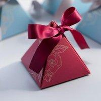 Yaratıcı Üçgen Hediyeler Kutuları Piramit Şeker Kutusu Düğün Konuklar Için Şeker Çanta Şekeri Düğün Dekorasyon Bebek Duş Hediyeler