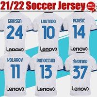 2021 2022 # 10 Lautearo Fußball Jersey White # 24 Eriksen Fans Version Soccer Hemd 21/22 Alexis Vidal Skriniar # 20 Calhanoglu Männer Erwachsene Fußballuniformen S-4XL