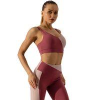 Женская йога носить спортивную одежду тренировочный потел высококачественный фитнес спортивный бюстгальтер вместе ударопрочный бегущий жилет многоцветный по желанию