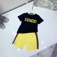 Diseñador Niños Casuales Shorts Sets Childrens Traje Marca Boys Ropa de algodón Tamaño 100-150