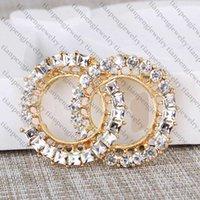 Novos Mulheres Designer Broche Designer Jóias C Letra Diamante Broche Pin Tassel Luxo Broche Roupas Decoração