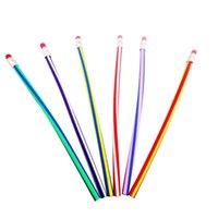 5 adet Renkli Sihirli Bendy Esnek Yumuşak Kalem Silgi Kalemler Kavisli Oyuncak Kalem Küçük Hediye Yüksek Çizgili Yumuşak Kalem