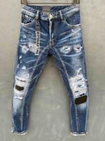 20s Jahre Herren Designer Jeans 2019 Frühling Black Ripping Beunruhigte Löcher Designer Jean Pencil Hosen Taschen Hommes Pantalones