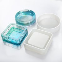 Resin ashtray mold silicone square round geometry ash tray molds ashtrays mould Imported silicone.It is made of imported silicone