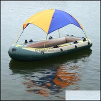 Tents Shelters And Cam Hiking Sports & Outdoors2-4 Person Inflatable Awnings Tarp Tent Hovercraft Shelter Canopy Rubber Sailboat Sun Shade B