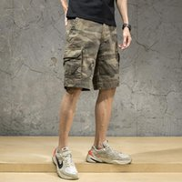 Men's Shorts Camouflage Cargo Mens Sweatshorts Sweat Pants Man Fashion Brand Pure Cotton Trendy Sports Pirate Loose Casual Pant