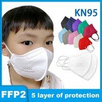 KN95 다채로운 마스크 아이 chlid 성인 FFP2 호흡기 필터 안티 안개 헤이즈 안티 dustriof 필터링 95 % 재사용 가능한 5 층 보호