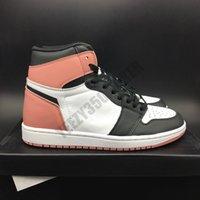 2021 1 1 1S ржавчины розовые высокие баскетбольные туфли Chicago черный нижний красный белый jumpman дизайнер с коробкой og мужские спортивные кроссовки DA2728-100