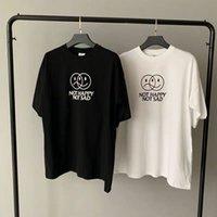 2020 weiß vtm nicht glücklich nicht traurig t-shirt männer frauen grafik text gedruckt t-shirts tonal logo gestickte tees grün