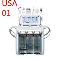 Stock en USA Multifuncional 6In1 H2O2 Máquina de burbujas Pequeña Molino de agua Piel Oxígeno Facial Belleza Cuidado de la piel Instrumento de belleza UPS