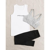 Yoga Outfit Loose T Shirt+bra+pants Women 3 Piece Set Quick Dry Fitness Gym Suit Outdoor Sportswear Clothing Running Sets Plus Size Fit