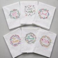 Table Napkin 6PCS Lot Cotton Rectangle Servetten Dishtowel Kitchen Towel Dish Cleaning Cloth Tea Embroidered 45x70cm