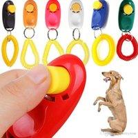 애완 동물 훈련 휘파람 애완 동물 개 훈련 개 Clicker 조정 가능한 소리 키 체인 및 손목 스트랩 강아지 기차 무료 배송