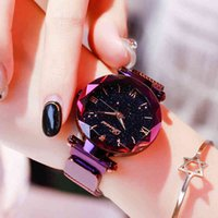 Designer Luxury Brand Watches Moda per le donne Elegante Magnete Magnete Buckle Starry Sky Numero romano Della Lady Dropshipping Dropshipping