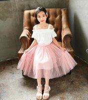 الفتيات التنانير الشواء الأميرة اللباس الجنية بوفانت تنورة الشاش الأبيض توتو جميل الأطفال الفتيات الكشكشة حزب فساتين ملابس الأطفال WMQ632