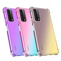 Dégaient coloré Coloré TPU transparent TPU Cas de téléphone TPU pour Huawei P Smart Y7A Nova 8 SE Y9A Y9S P30 P40 P4 PRO LITE COCHE PROBLOPHE PROBLOGANT