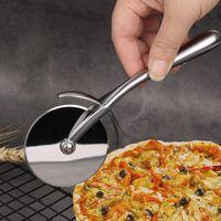 Blanco Níquel Pizarra de zinc Alloy Pizza Ruedas Herramientas Herramientas de pastel Durable Pan Peadas Divisor redondo Cuchillo Pasta Pasta Dough Hornear Herramienta HWF7358