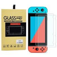 Real 9H Ultra-clara tela de vidro temperado Protector Film para Nintendo Chave Capa protetora Film para Nintendo interruptor 2017 NS Acessórios