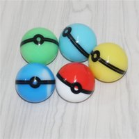 6ml Food Grade ball shaped Silicone Container Case Jar smoking accessories for Dab Oil Dry herb Wax silicon storage box