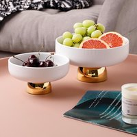 Keramische Obstplatten-Dessert-Lager-Rack-Tablett-Snack-Container-Küchentabendessen Geschirr, das Dish Bowl Organizer serviert