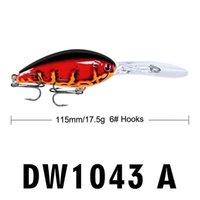 Yeni Uzun-Dudak Derin Dalış Crankbait Wobbler Lazer Balıkçılık Cazibesi 17.5g 11.5 cm Büyük Bill Baitfish Gerçekçi WOB JLLFSE Sport77777