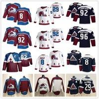 콜로라도 Avalanche Hockey Jerseys 8 Cale Makar 29 Nathan Mackinnon 92 Gabriel Landeskog 96 Mikko Rantanen 19 Joe Sakic 31 Philipp Grubauer 52 Adam Foote Custom Jersey