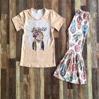 Crianças Roupas Criança Meninas Queda Outfits Manga Curta Bell Outfit 2 Pcs Cute Bebê Menina Designer Roupas De Leite Silk Boutique 430 Y2