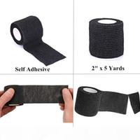 Eauty Health 48 24 12 6 Черная татуировка Grip Bandage Cover Wraps Tapes Nonwoven Водонепроницаемый самоклеящийся Аксессуар для защиты пальцев ...