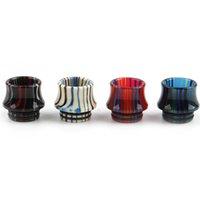 810 Pequeña cintura colorida epoxi resina ancho puntiagudo punta gotea ajuste tfv12 príncipe vape cartuchos vs 510 en stock