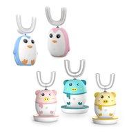 Spazzolino da denti Bambini completamente automatici Elettrico Tipo Utificato 2-12 anni Carica USB IPX7 Piguin Penguin Forma multi-colore opzionale