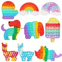 US STOCK 1000 Styles Fidget Toys Push Bubble Antistress Toys Anti-stress Soft Sensory Gifts Reusable Squeeze Office Toys Desktop Adult Kids Party Gifts