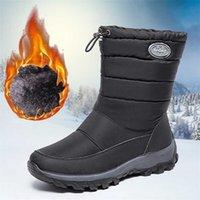 Women's Boots Waterproof Winter Shoe Snow Platform Keep Warm With Thick Fur Heels Botas Mujer 211022