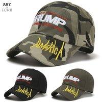 Nuovo ricamo Camouflage Donald Trump Cap Mens Berretto da baseball Donens America America All'aperto Snapback Cappello Uomo Donna Moda Sun Hat Cappelli