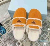2021 Desiner Top Wool Top Shoes Invierno Peluche Medio Slippers HOTEL INTERIOR HOTEL CALIENTE Sandalias de piel de zorro para mujeres Diapositivas con caja 302