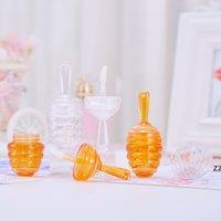 Temizle Amber Honecomb Şekilli Dudak Parlatıcısı Tüpleri Değnek Boş Bal Lipgloss Konteynerler Kauçuk HWD10800 ile Komik Dudak Balsamı Şişe Dağıtıcı