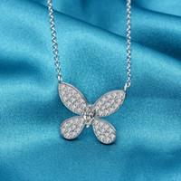 HBP Fashion Jewelry de lujo 2021 New Butterfly Series Colgante S925 Sterling Silver Cross Cadena Collar