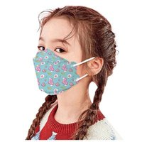 Disposable Dust-proof Protection Printing colorful Children's mask 3~12 years Design 10 pack 3D four layers Cartoon cute kids student face masks