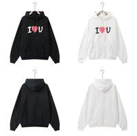 2021 Designer Balanciaga Hoodies Sweatshirts Langarm I Love You Heart Mit Kapuze Tasche Hip Hop Hoodie Warme dicke Pullover Paare Pullover Balciga