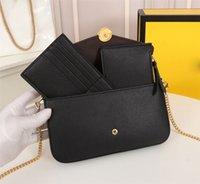 Mini Borsa Lussurys Designer Borse Borse Donne Crossbody Bag Three Piece Set Real Pelle Geometric Flap Blap Borsa a spalla Carino Portafoglio Regalo F005