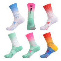 Men's Basketball Socks Middle Thickened Breathable Towel Bottom Colorful Fitness Running Cycling Hiking Sports Socks calcetines