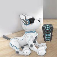RCTOWN التحكم عن حيلة الذكية روبوت الكلب التعليم المبكر تقليد الرقص روبوت الكلب لعبة تقليد الحيوانات الرقص لعبة