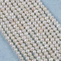 4-5-6mm blanc naturel eau de pomme de terre de pommes de terre perle de cordes de pommes de terre pour bricolage bijoux fabrication collier Barcellet en gros Zhuji