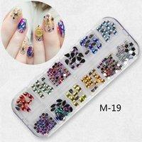 Nail Art Decorations 1@# 1Box Crystal Rhinestones For Manicure Irregular Micro Bead DIY Charms Accessories M19
