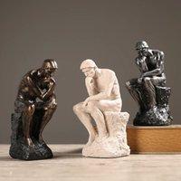 الراتنج الرملي المفكرين التماثيل الشمال الإبداعية الحازنة الحديثة الحديثة الرجعية ديكورات المنزل تأثيث مكتب الهدايا